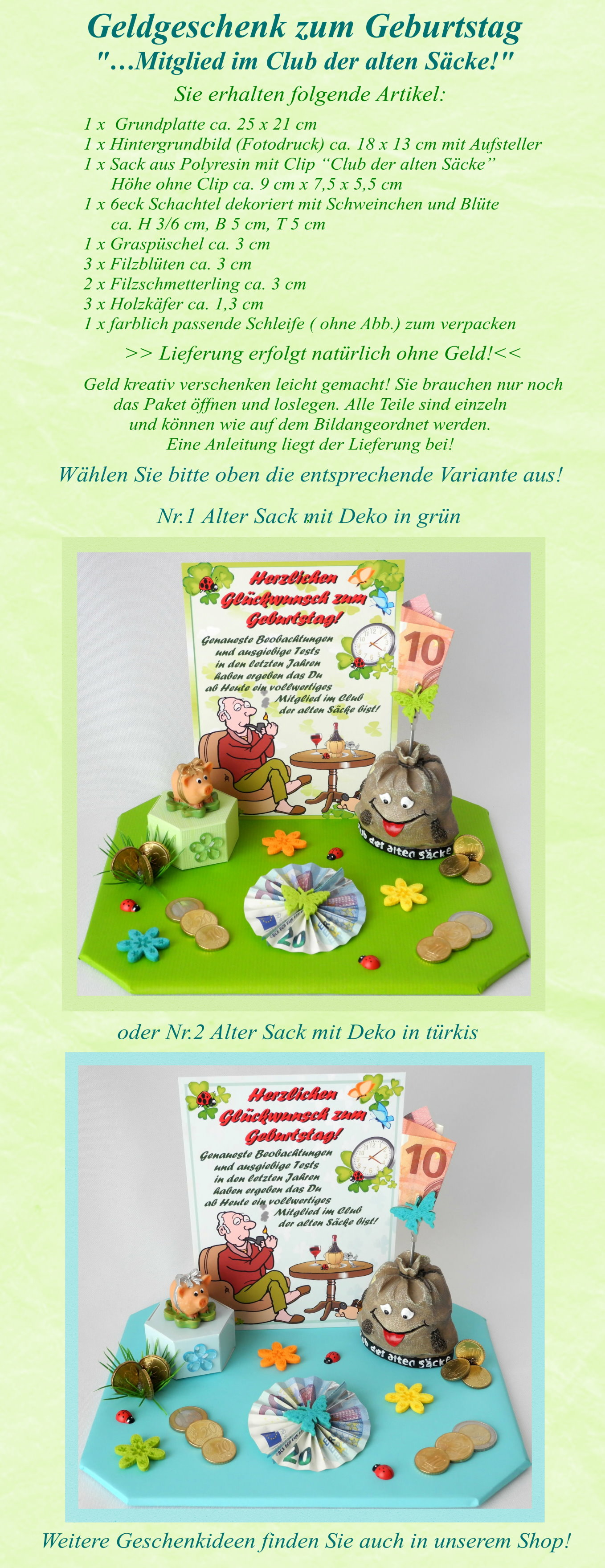 Geburtstag Alter Sack Gluckwunsch